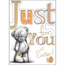 Just For You Me to You Bear Easter Card