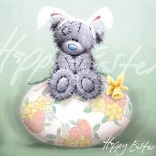 Tatty Teddy On Egg Softly Draw Me to You Bear Easter Card