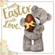 Holding Chocolate Egg Me to You Bear Easter Card