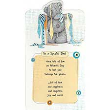 Bear with Ties Me to You Bear Fathers Day Card