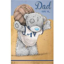 Bear With Football Me to You Bear Fathers Day Card