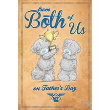 From Both Of Us Me to You Bear Fathers Day Card