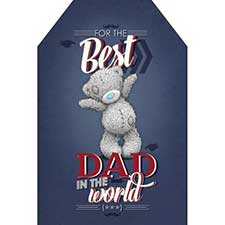 Best Dad Me to You Bear Pop Up Father Day Card