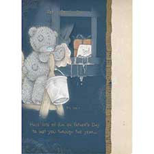 Dad Washing Windows Me to You Bear Fathers Dad Card