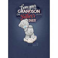 From Your Grandson Me to You Bear Fathers Day Card