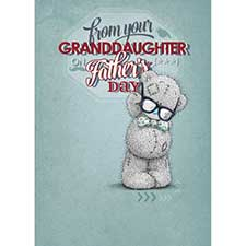 From Your Granddaughter Me to You Bear Fathers Day Card