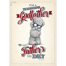 Wonderful Godfather Me to You Bear Fathers Day Card