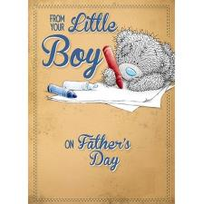 From Your Little Boy Me to You Bear Fathers Day Card