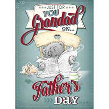 3D Holographic Grandad On Father Day Me to You Bear Card