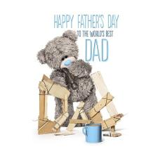 Worlds Best Dad Me to You Bear Fathers Day Card