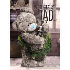 3D Holographic Greatest Dad Me to You Bear Fathers Day Card