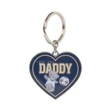 Daddy Me To You Bear Metal Heart Key Ring