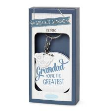 Grandad You're The Greatest Me to You Bear Wooden Key Ring