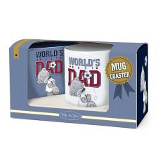 World's Best Dad Me to You Bear Mug & Coaster Gift Set