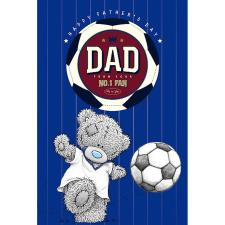 Dad with Football Me To You Bear Fathers Day Card With Beer Mat