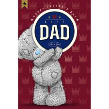 Best Dad Me To You Bear Fathers Day Card With Beer Mat