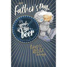 Happy Father's Day Me to You Fathers Day Card With Beer Mat