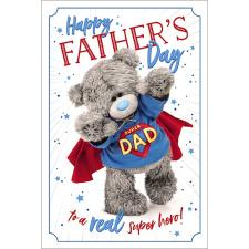 Super Dad 3D Holographic Me to You Bear Father's Day Card
