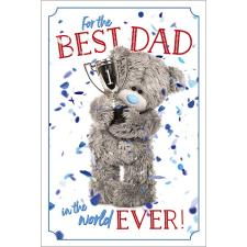 No1 Dad 3D Holographic Me to You Bear Father's Day Card