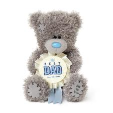 "4"" Best Dad Rosette Me To You Bear"
