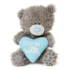 "4"" I Love You Daddy Padded Heart Me to You Bear"