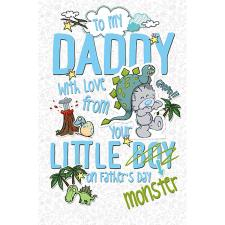 Daddy From Little Boy My Dinky Bear Me to You Fathers Day Card