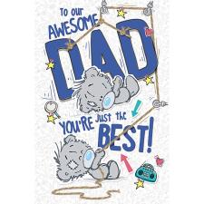 Awesome Dad My Dinky Bear Me to You Fathers Day Card