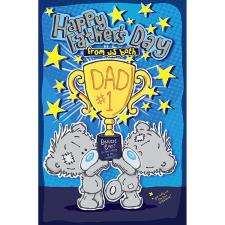 Dad From Both Of Us My Dinky Bear Me to You Fathers Day Card