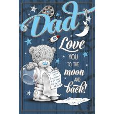 Dad Love You to The Moon Me to You Fathers Day Card