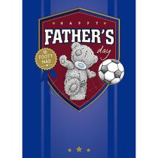 Footy Mad Me To You Bear Fathers Day Card