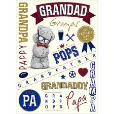 Grandad Me To You Bear Fathers Day Card
