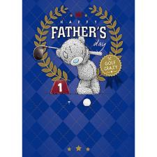 Golf Crazy Me To You Bear Fathers Day Card