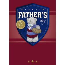 Rugby Mad Me To You Bear Fathers Day Card