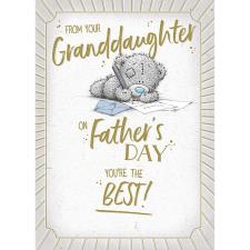 From Your Granddaughter Me to You Bear Father's Day Card