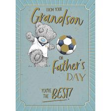 From Your Grandson Me to You Bear Father's Day Card