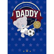 Daddy From Your Little Boy Me to You Bear Fathers Day Card