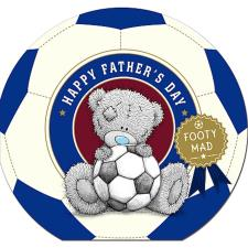 Footy Mad Me To You Bear Shaped Fathers Day Card