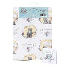 Luxury Christening Me to You Bear Giftwrap and Tags