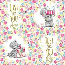 Just For You Me to You Bear Gift Wrap