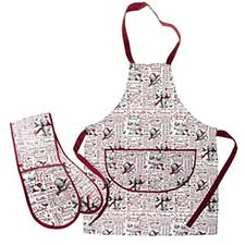 Christmas Me to You Bear Apron and Oven Glove Gift Set