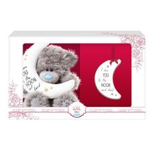 "5"" Moon And Back Me to You Bear & Plaque Set"