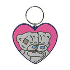 Cuddling Bears Me to You PVC Heart Shaped Keyring
