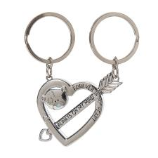 2 Part Me to You Bear Love Heart Keyring