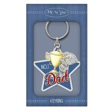 No.1 Dad Me to You Bear Enamel Key Ring