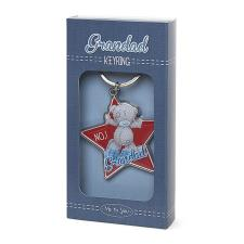 No.1 Grandad Me to You Bear Enamel Key Ring