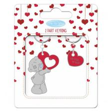 You Stole My Heart 2 Part Me to You Bear Key Ring