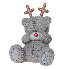 Me to You Bear Christmas Money Box with Reindeer Antlers