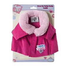 Tatty Teddy Me to You Bear Pink Coat with Furry collar