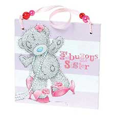 Fabulous Sister Me to You Bear Plaque