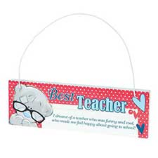 Best Teacher Me to You Bear Wall Plaque